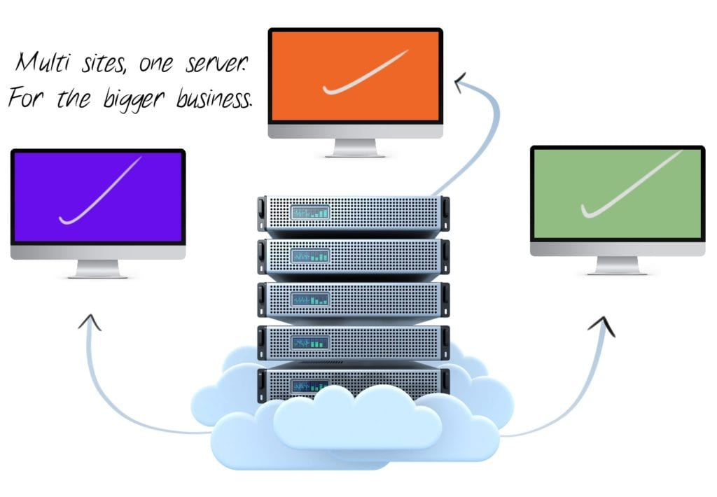 multi site website hosting